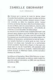 Sud Oranais - 4ème de couverture - Format classique