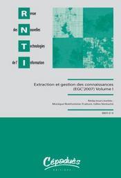 Extraction et gestion des connaissances t.1 et t.2 (édition 2007) - Intérieur - Format classique
