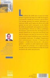 Derives De Credit - 4ème de couverture - Format classique