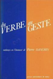 Du Verbe Au Geste - Couverture - Format classique