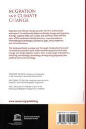 Migration and climate change - 4ème de couverture - Format classique