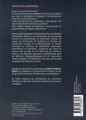 Traité de la sublimation - 4ème de couverture - Format classique