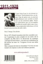 Mémoires ; carnets de voyages 1911-1928 - 4ème de couverture - Format classique