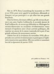 Lettres de prison (2e édition) - 4ème de couverture - Format classique