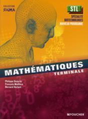 SIGMA ; mathématiques ; terminale STL, spécialité biotechnologies ; livre de l'élève - Couverture - Format classique