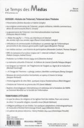 Revue Le Temps Des Medias - 4ème de couverture - Format classique