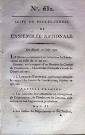 Assemblee Nationale N°680 du 14/06/1791 - Couverture - Format classique