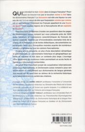 Dictionnaire suisse romand - 4ème de couverture - Format classique