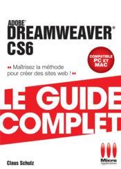 Dreamweaver CS6 - Couverture - Format classique