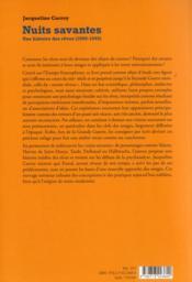Nuits savantes ; une histoire des rêves (1800-1945) - 4ème de couverture - Format classique