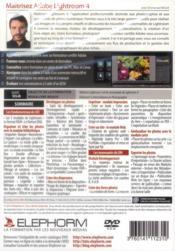 Maîtrisez Adobe Lightroom 4 - 4ème de couverture - Format classique