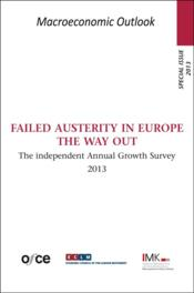Vente livre :  Failed austerity in Europe ; the way out  - Collectif
