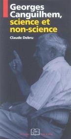 Georges Canguilhem, Science Et Non-Science - Intérieur - Format classique