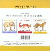 Les animaux de la ferme - 4ème de couverture - Format classique