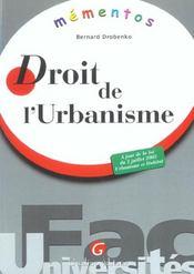 Memento Droit De L'Urbanisme - Intérieur - Format classique
