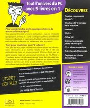 Le Pc Pour Les Nuls ; 9 Livres En 1 - 4ème de couverture - Format classique