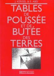 Tables De Poussee Et De Butee Des Terres - Intérieur - Format classique
