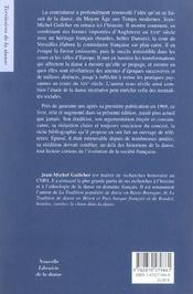 La contredanse ; un tournant dans l'histoire francaise de la danse - 4ème de couverture - Format classique
