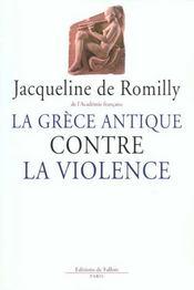 La Grece Antique Contre La Violence - Intérieur - Format classique