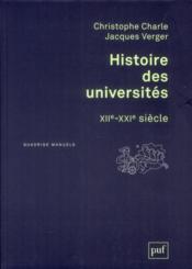 Histoire des universités ; XIIe-XXIe siècle - Couverture - Format classique