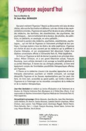 L'hypnose aujourd'hui (2e édition) - 4ème de couverture - Format classique