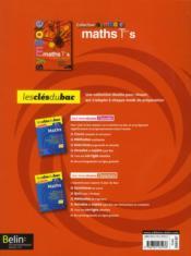 Symbole ; Mathématiques ; Terminale S, Enseignement Obligatoire ; Manuel De L'Elève - 4ème de couverture - Format classique