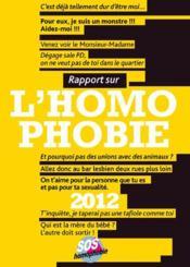 Rapport sur l'homophobie 2012 - Couverture - Format classique
