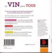 Le vin pour tous ; le comprendre, le choisir, l'apprécier - Couverture - Format classique