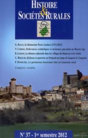 Revue Histoire Et Societes Rurales - Couverture - Format classique
