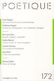 Revue Poetique N.172 - Couverture - Format classique