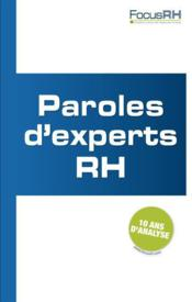 Vente livre :  Paroles d'experts  - Collectif