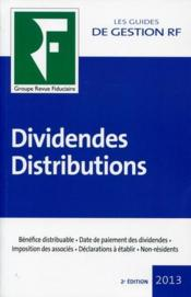 Vente  Dividendes et distributions (2e édition)  - Collectif Grf