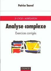 Analyse Complexe ; Exercices Et Problemes Corriges - Intérieur - Format classique