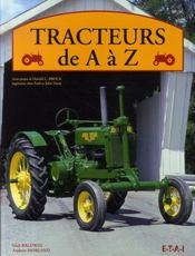 Tracteurs de a à z - Intérieur - Format classique