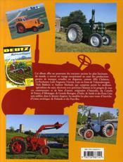 Tracteurs de a à z - 4ème de couverture - Format classique