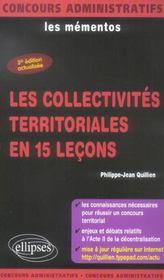Les Collectivites Territoriales En 15 Lecons 3e Edition Actualisee Les Mementos - Intérieur - Format classique