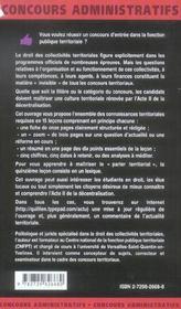 Les Collectivites Territoriales En 15 Lecons 3e Edition Actualisee Les Mementos - 4ème de couverture - Format classique