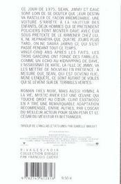 Mystic river - 4ème de couverture - Format classique