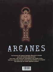 Arcanes t.2 ; la dame de Prague - 4ème de couverture - Format classique