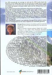 100 sommets des pyrenees - 4ème de couverture - Format classique