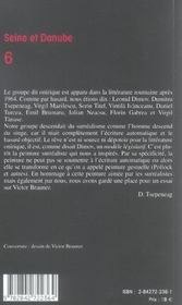 Seine et danube ; le groupe onirique - 4ème de couverture - Format classique