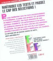 101 tests psychotechniques de logique et d'intelligence t.4 - 4ème de couverture - Format classique