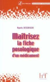 Maitriser La Fiche Posologique D'Un Medicament - Couverture - Format classique