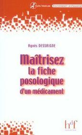Maitriser La Fiche Posologique D'Un Medicament - Intérieur - Format classique