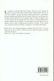 Contes De La Tendresse Et Du Pouvoir - 4ème de couverture - Format classique