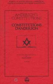 Constitutions d'Anderson - Couverture - Format classique