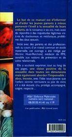 0 a 6 ans : de l'eveil a la sexualite a la prevention des abus sexuels - 4ème de couverture - Format classique