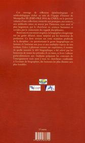 La biographie en histoire ; jeux et enjeux d'écritures - 4ème de couverture - Format classique