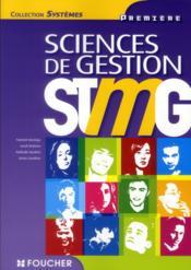 Sciences de gestion ; 1ère STMG - Couverture - Format classique