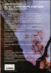M. ou la rencontre eidetique - 4ème de couverture - Format classique